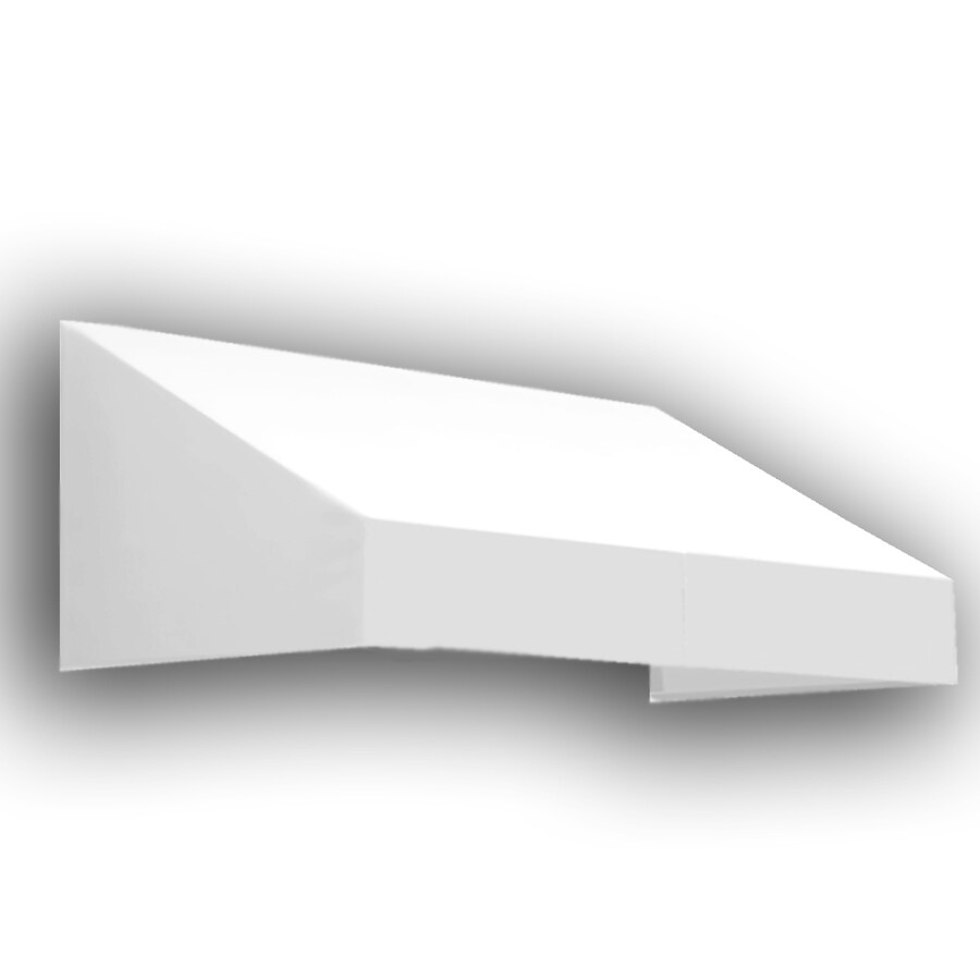 Awntech 304.5-in Wide x 48-in Projection White Solid Slope Window/Door Awning