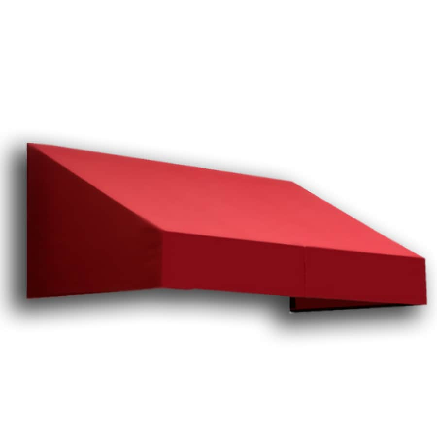 Awntech 604.5-in Wide x 48-in Projection Red Solid Slope Window/Door Awning