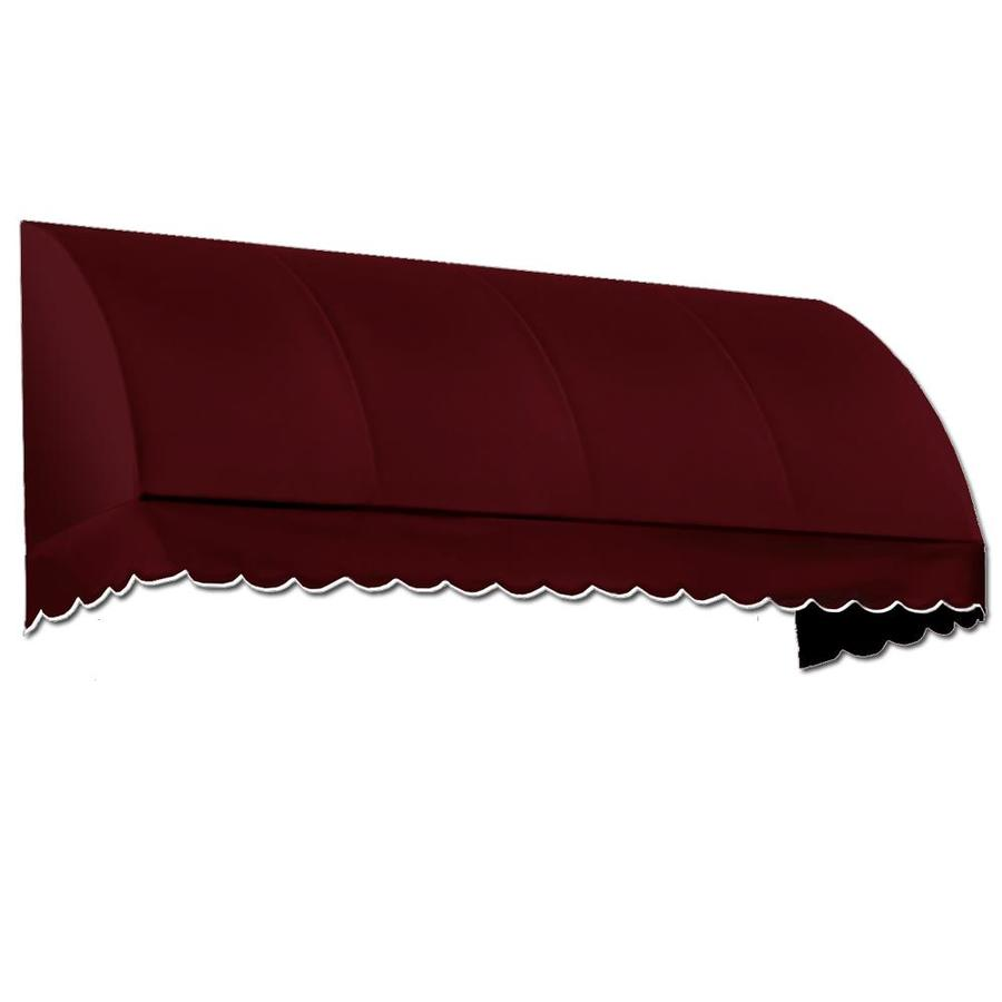 Awntech 52.5-in Wide x 24-in Projection Burgundy Solid Waterfall Window/Door Awning