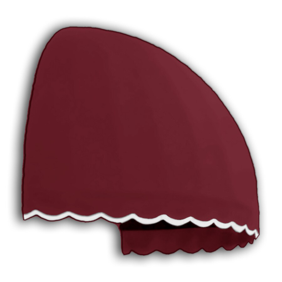 "Awntech® 6' Beauty-Mark® Bostonian (58""H x 51""D Window / Entry Awning - Burgundy"