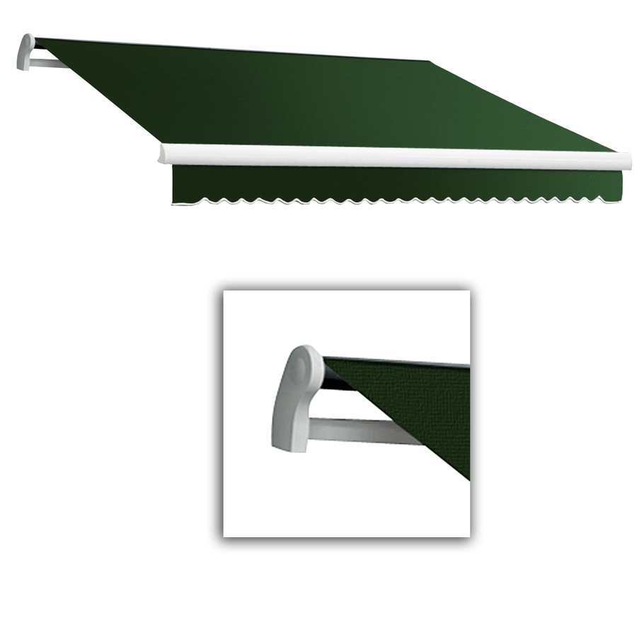 Awntech 12-ft Wide x 10-ft 2-in Projection Forest Slope Patio Retractable Remote Control Awning