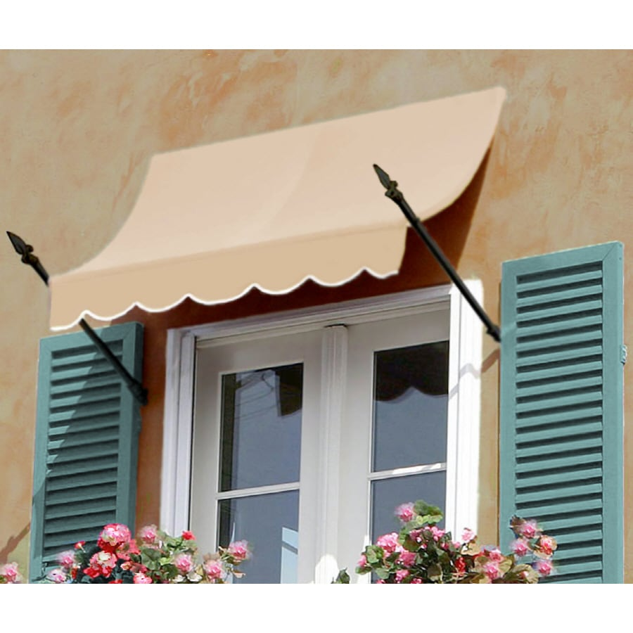 "Awntech 4' Beauty-Mark� New Orleans� (31""H X 16""D) Window/Entry Awning / Tan"