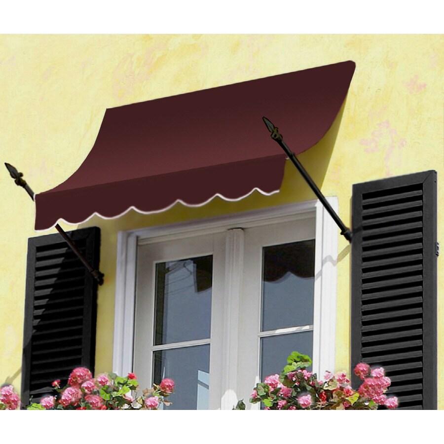 "Awntech 8' Beauty-Mark� New Orleans� (31""H X 16""D) Window/Entry Awning / Burgundy"