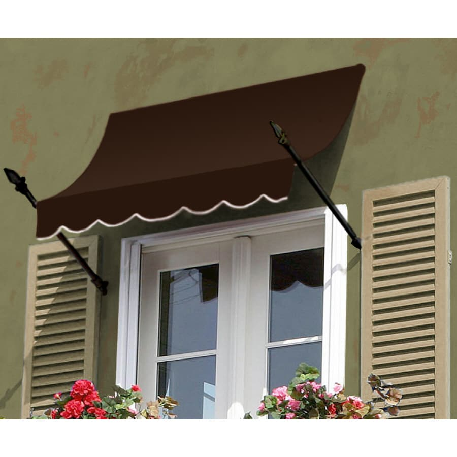 "Awntech 8' Beauty-Mark� New Orleans� (31""H X 16""D) Window/Entry Awning / Brown"