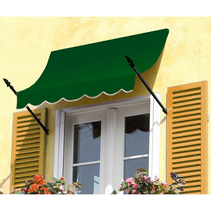 "Awntech 8' Beauty-Mark� New Orleans� (31""H X 16""D) Window/Entry Awning / Forest"
