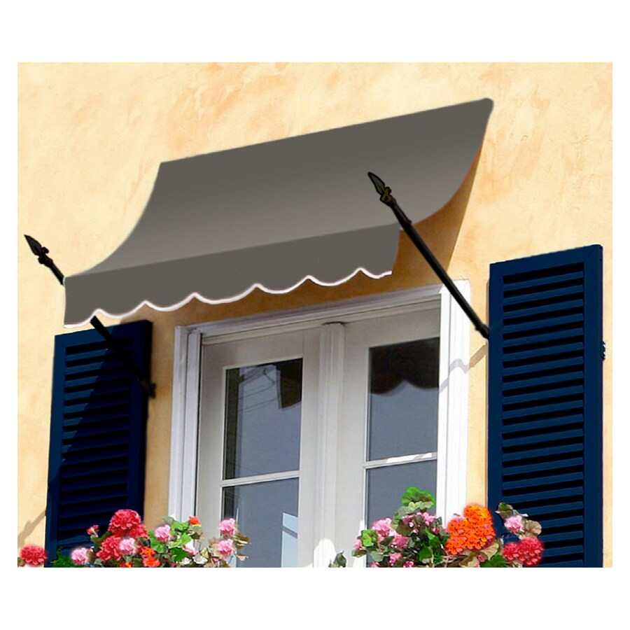 "Awntech 8' Beauty-Mark® New Orleans® (31""H X 16""D) Window/Entry Awning / Gray"