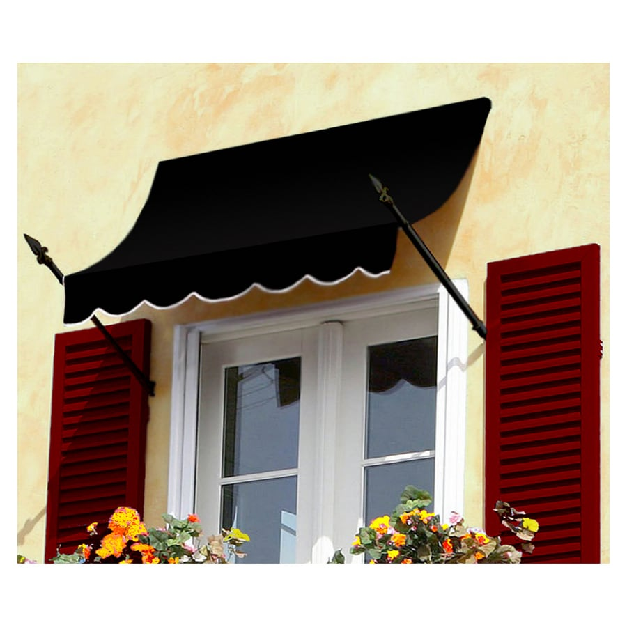 "Awntech 8' Beauty-Mark® New Orleans® (31""H X 16""D) Window/Entry Awning / Black"