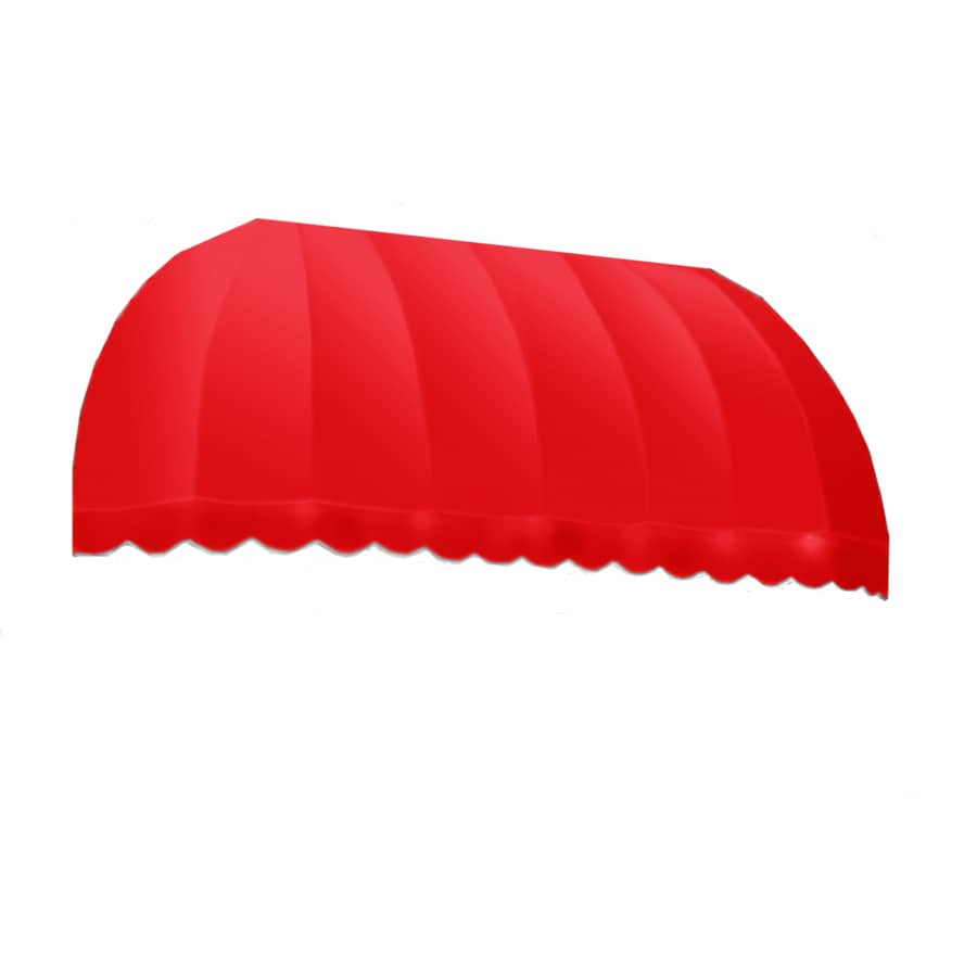 Awntech 124.5-in Wide x 48-in Projection Red Solid Elongated Dome Window/Door Awning