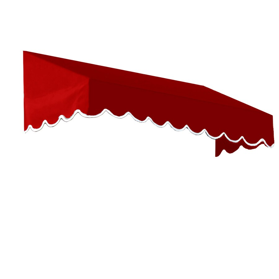Awntech 244.5-in Wide x 24-in Projection Red Solid Slope Window/Door Awning