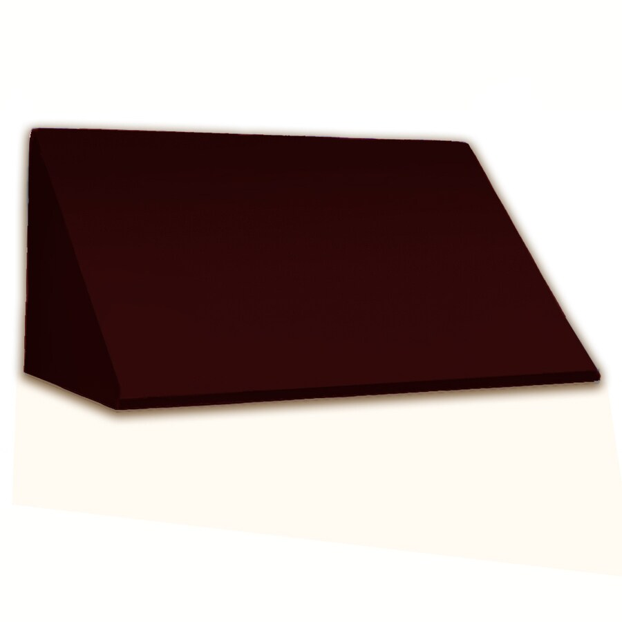 Awntech 124.5-in Wide x 24-in Projection Burgundy Solid Slope Window/Door Awning