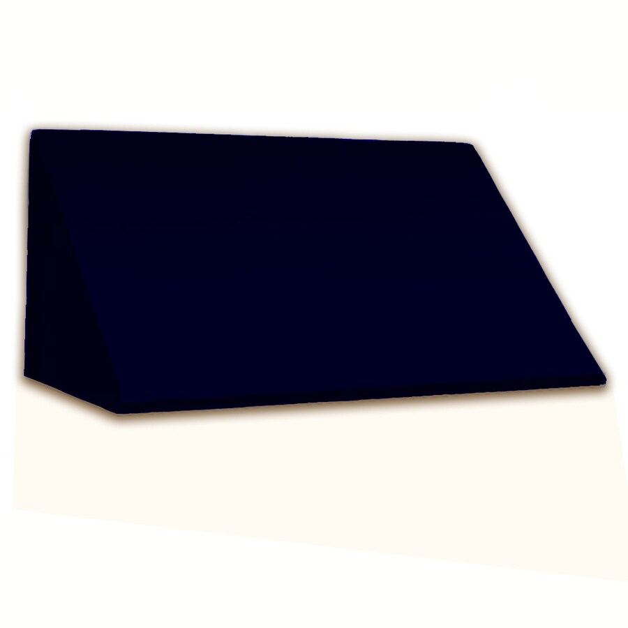 Awntech 148.5-in Wide x 24-in Projection Navy Solid Slope Window/Door Awning