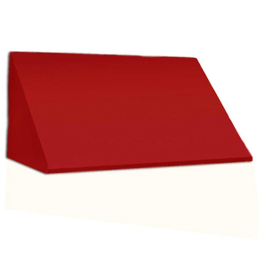 Awntech 148.5-in Wide x 24-in Projection Red Solid Slope Window/Door Awning