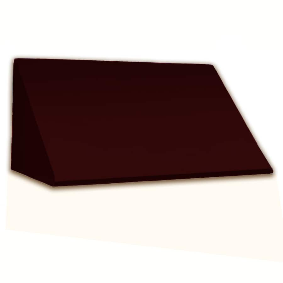 Awntech 424.5-in Wide x 24-in Projection Burgundy Solid Slope Window/Door Awning