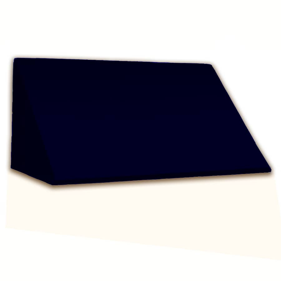Awntech 244.5-in Wide x 48-in Projection Navy Solid Slope Window/Door Awning