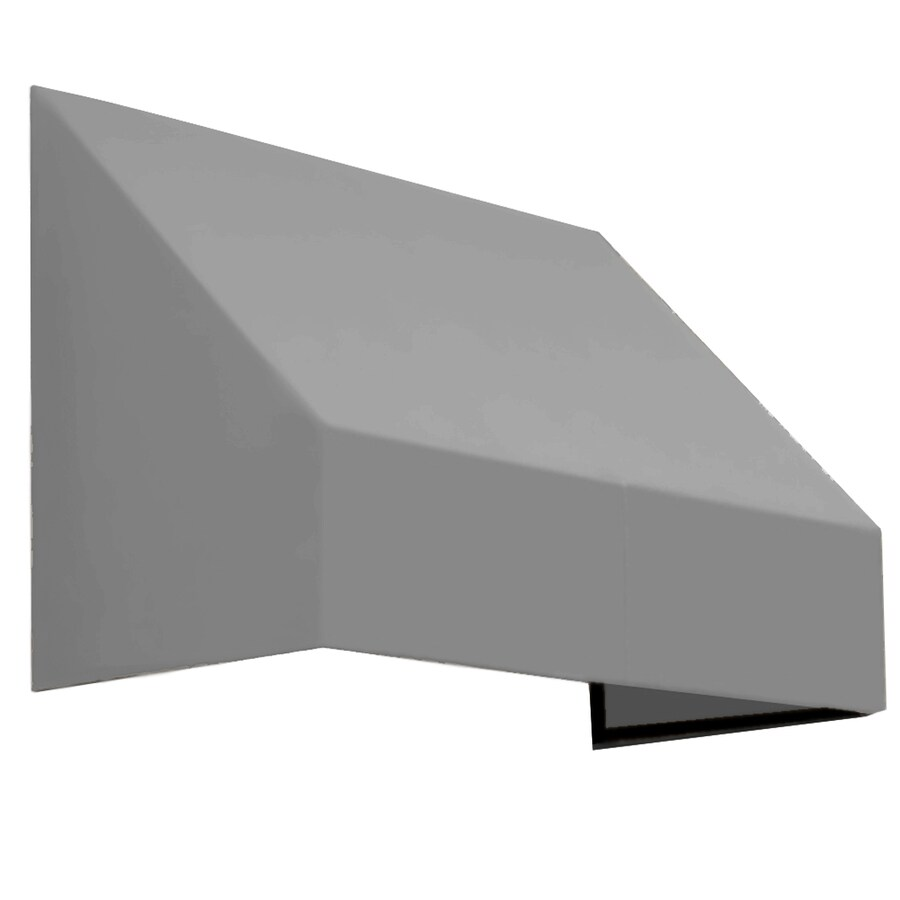 Awntech 424.5-in Wide x 48-in Projection Gray Solid Slope Window/Door Awning