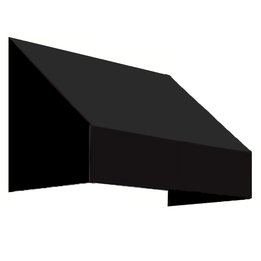 Awntech 484.5-in Wide x 48-in Projection Black Solid Slope Window/Door Awning