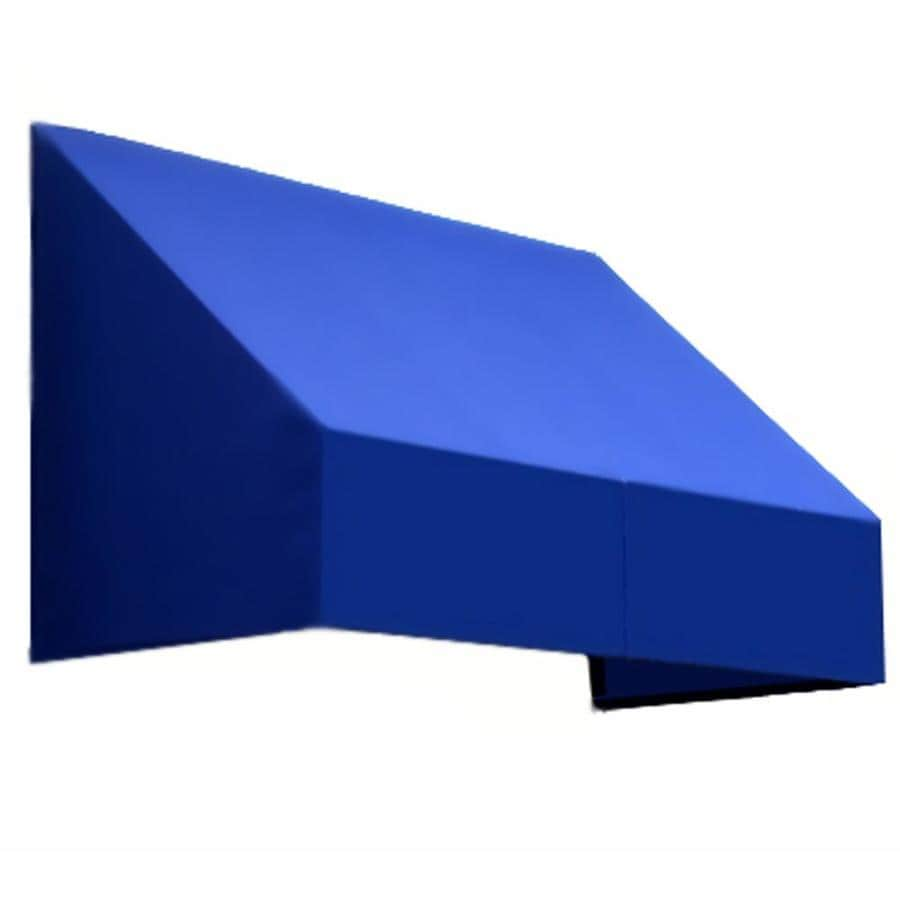 Awntech 52.5-in Wide x 30-in Projection Bright Blue Solid Slope Low Eave Window/Door Awning