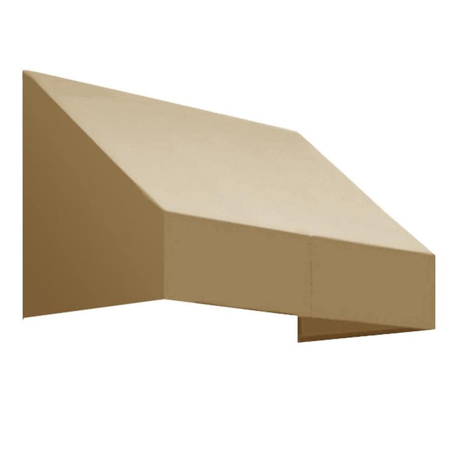 Awntech 52.5-in Wide x 30-in Projection Tan Solid Slope Low Eave Window/Door Awning
