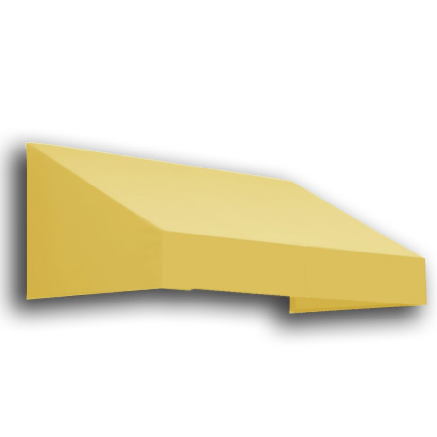 Awntech 52.5000-in Wide x 30-in Projection Yellow Solid Slope Window/Door Fixed Awning