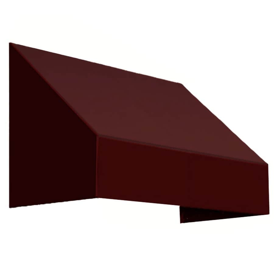 Awntech 100.5-in Wide x 30-in Projection Brown Solid Slope Low Eave Window/Door Awning