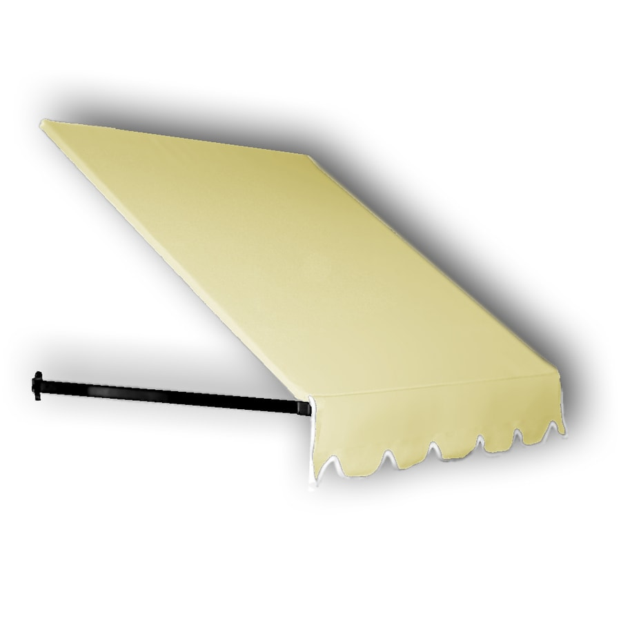 Awntech 124.5-in Wide x 24-in Projection Yellow Solid Open Slope Window/Door Awning