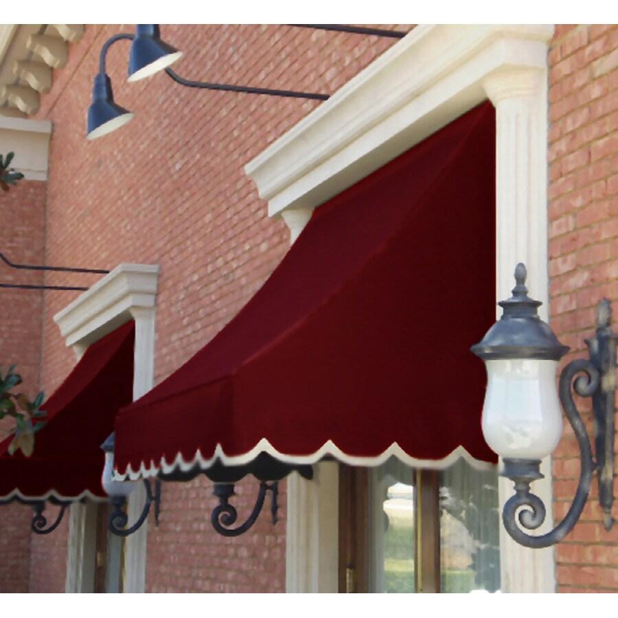"""Awntech 8' Beauty-Mark� Nantucket� (31""""H X 24""""D) Window/Entry Awning / Burgundy"""