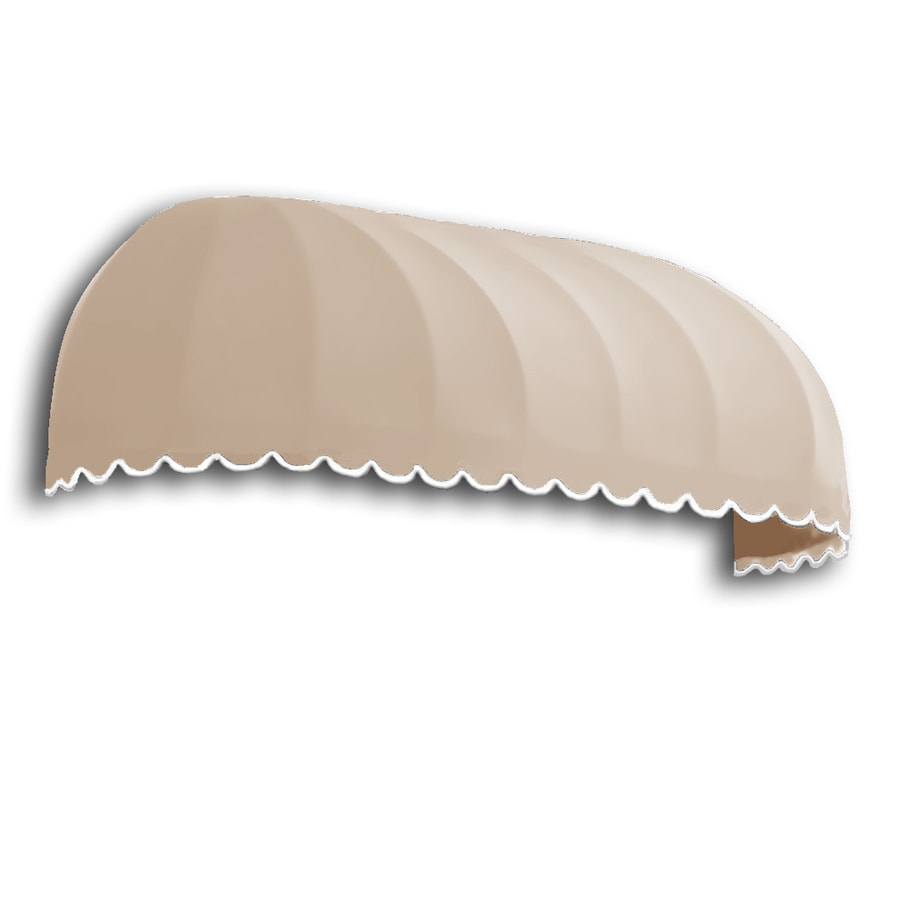 Awntech 244.5-in Wide x 48-in Projection Tan Solid Elongated Dome Window/Door Awning
