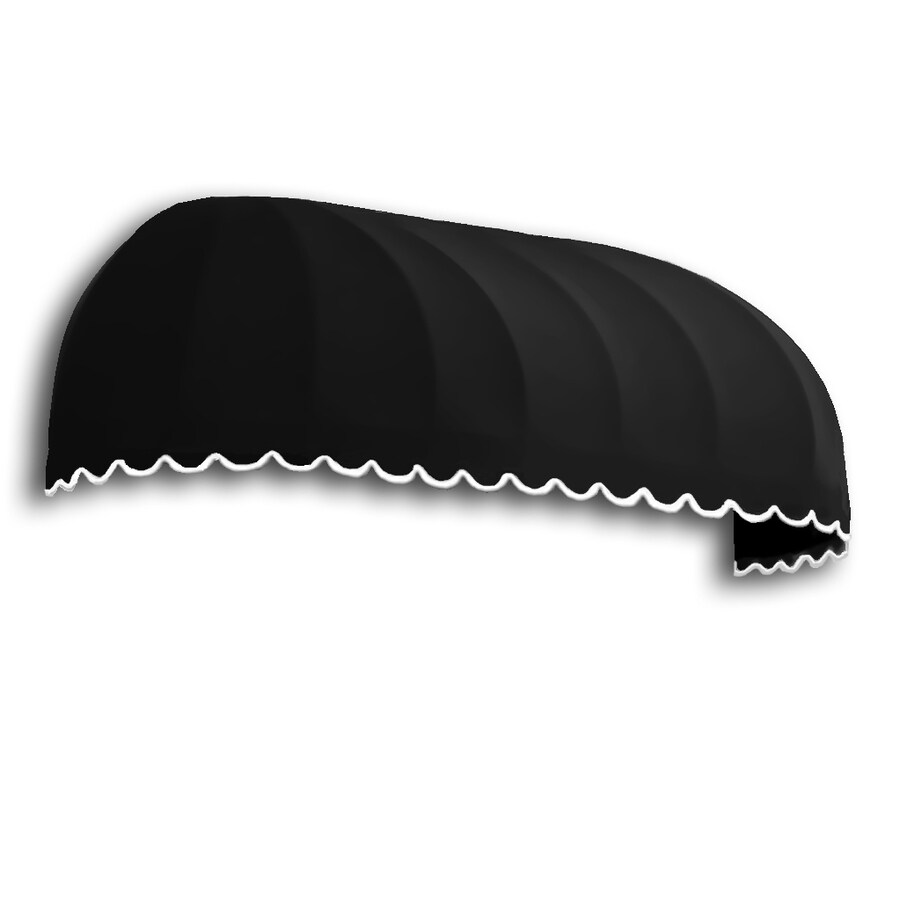 Awntech 244.5-in Wide x 48-in Projection Black Solid Elongated Dome Window/Door Awning