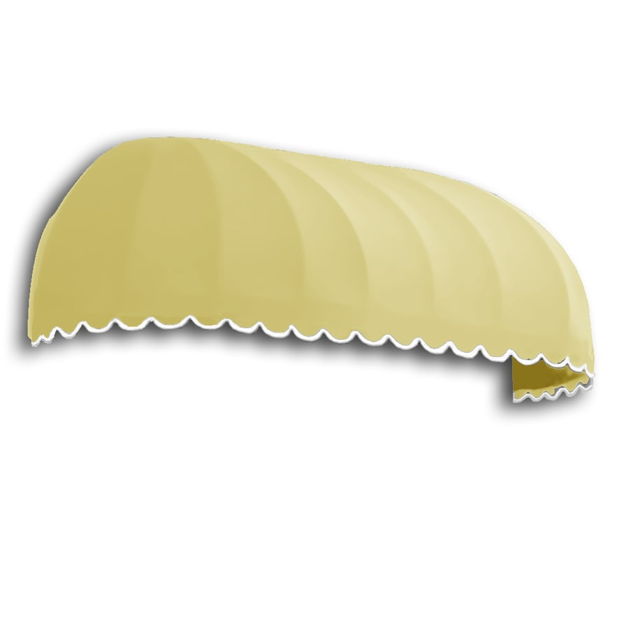 Awntech 64.5-in Wide x 24-in Projection Yellow Solid Elongated Dome Window/Door Awning