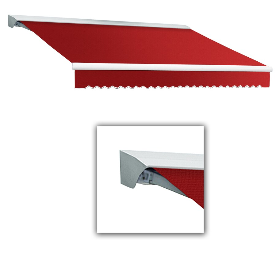 Awntech 14-ft Wide x 10-ft 2-in Projection Red Slope Patio Retractable Remote Control Awning
