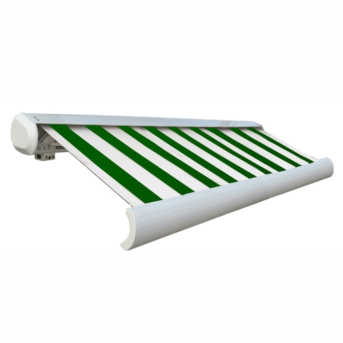 Awntech 288-in Wide x 122-in Projection Striped Slope ...