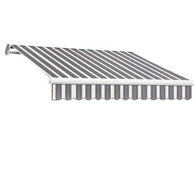 Awntech 120 In Wide X 96 In Projection Pin Stripe Slope Patio Retractable