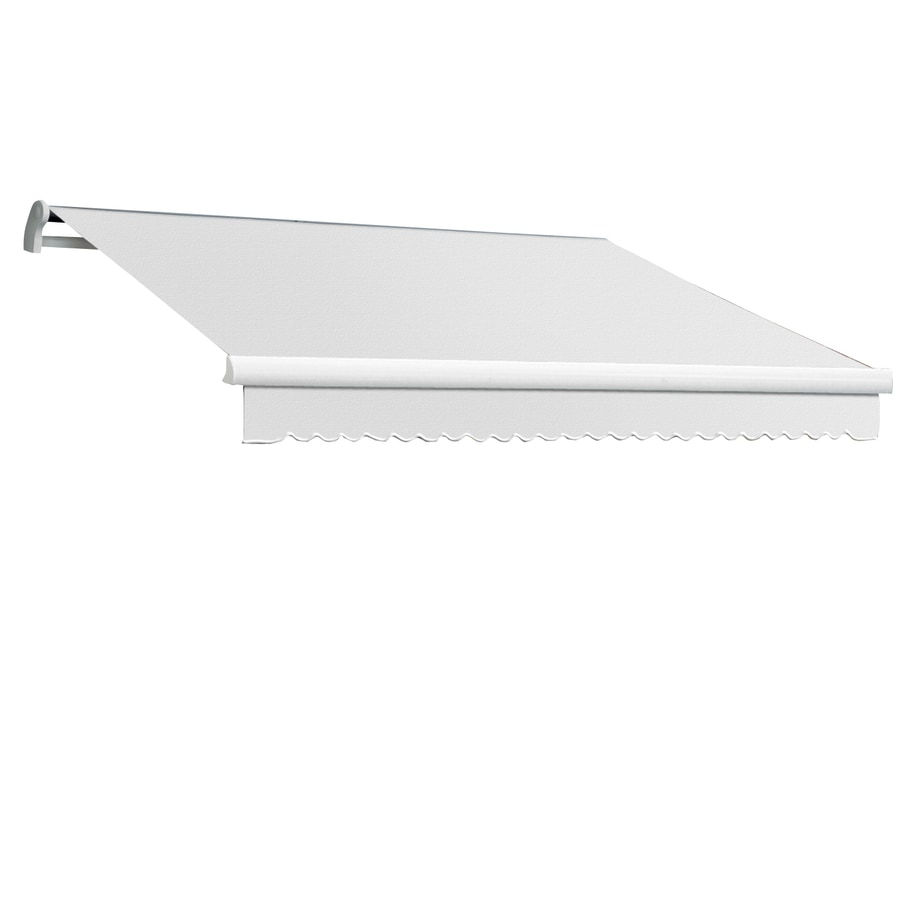 Awntech 168-in Wide x 120-in Projection Off-White Solid Slope Patio Retractable Remote Control Awning