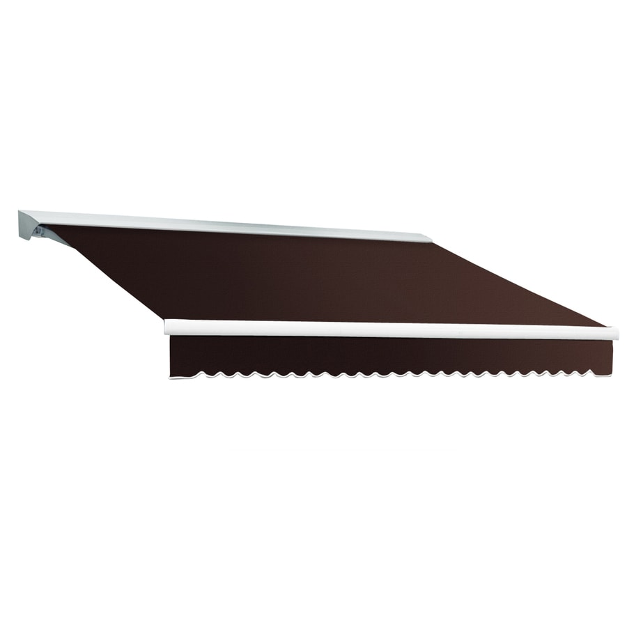 Awntech 168-in Wide x 120-in Projection Brown Solid Slope Patio Retractable Manual Awning
