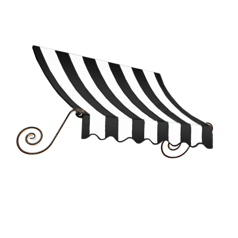"Awntech 8' Beauty-Mark® Charleston® (44""H X 36""D) Window/Entry Awning / Black/White Stripe"