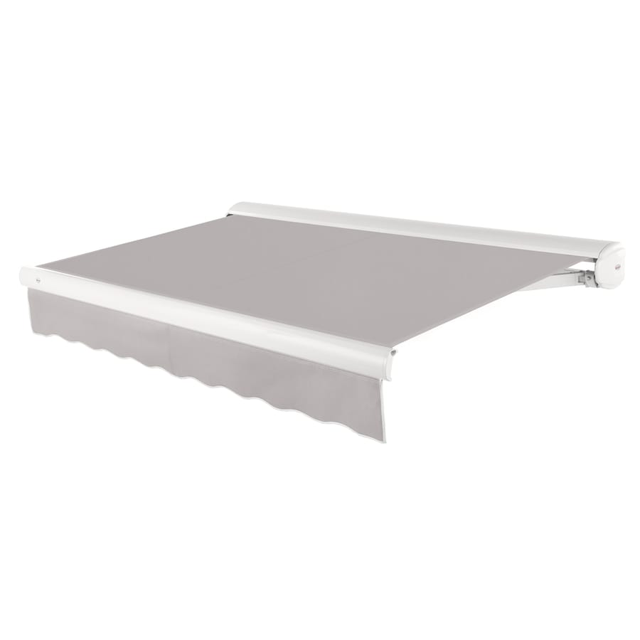 Awntech 240-in Wide x 120-in Projection Gray Solid Slope Patio Retractable Remote Control Awning