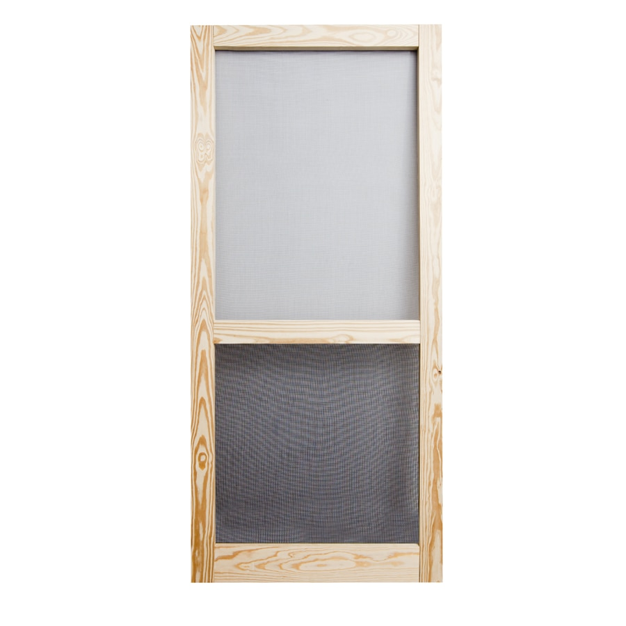 Screen Tight Natural Aluminum Hinged Single Bar Screen Door (Common: 36-in x 80-in; Actual: 36-in x 80-in)