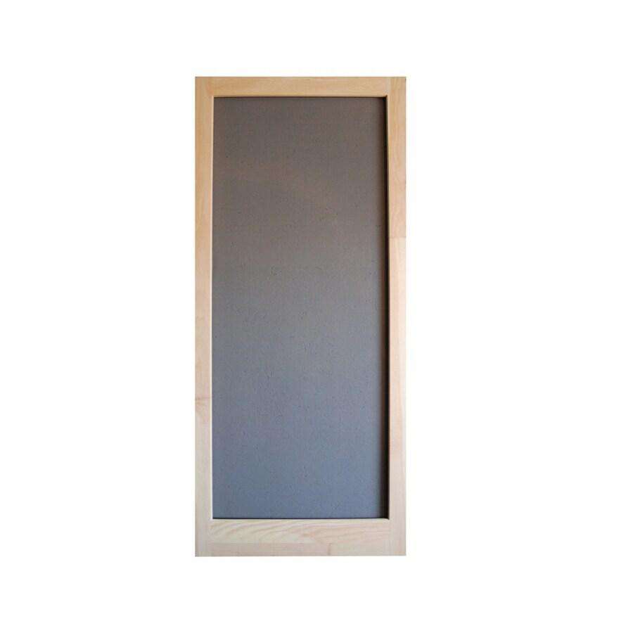 shop screen tight meadow natural wood screen door common 30 in x 80 in actual 30 in x 80 in. Black Bedroom Furniture Sets. Home Design Ideas