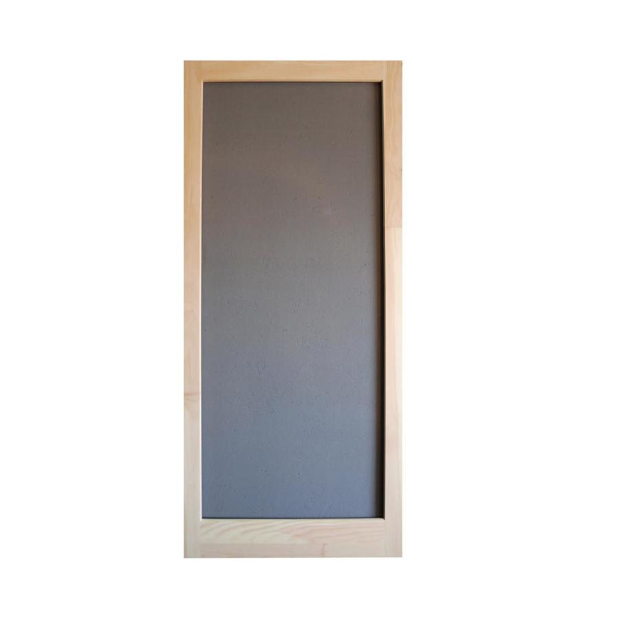 Shop screen tight meadow natural wood hinged decorative for Decorative screen doors