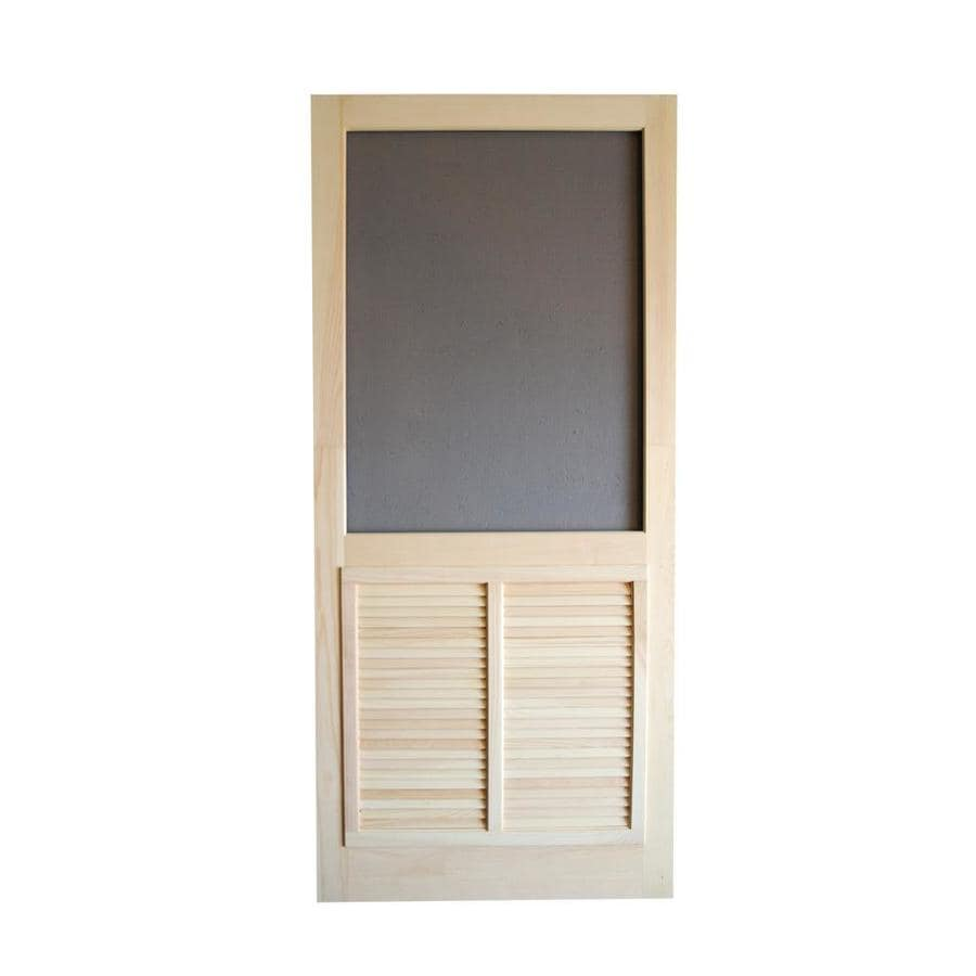 Shop screen tight ponderosa natural wood hinged decorative for Decorative screen doors