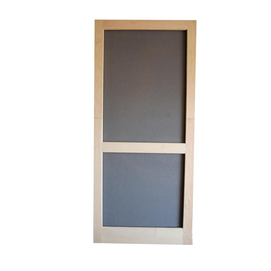 Screen Tight Wood Screen Door Natural Wood Hinged Decorative Screen Door (Common: 30-in x 80-in; Actual: 30-in x 80-in)