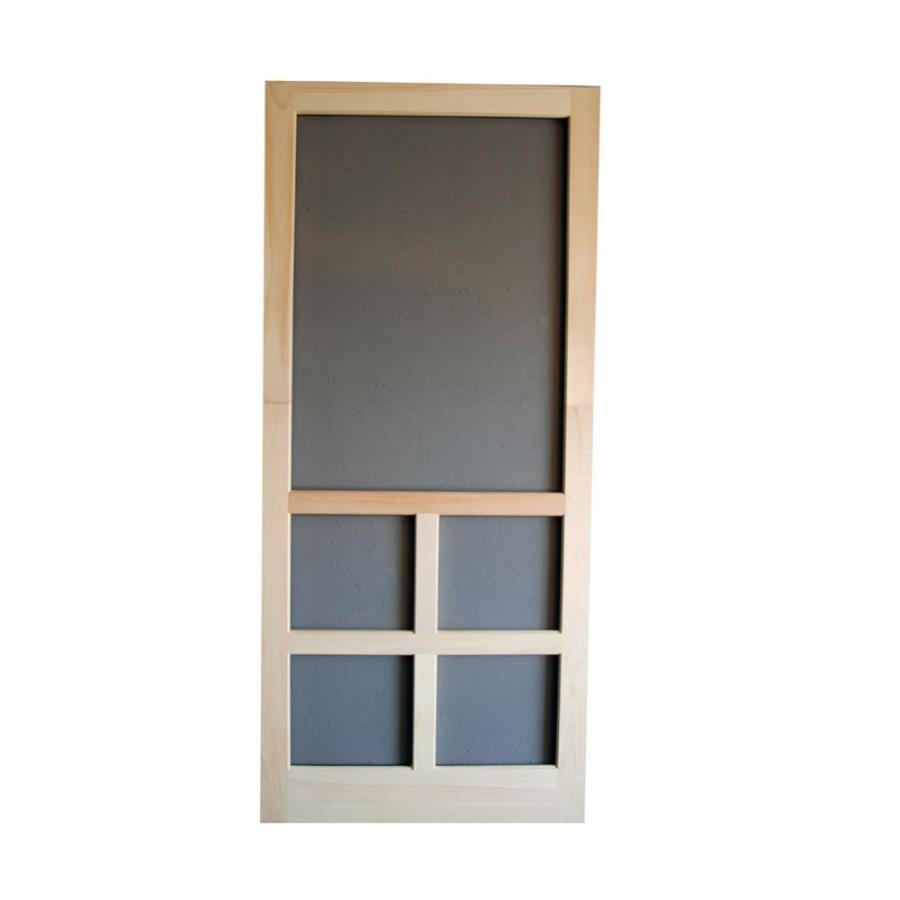 Screen Tight Natural Wood Hinged Cross Bar Screen Door (Common: 30-in x 80-in; Actual: 30-in x 80-in)