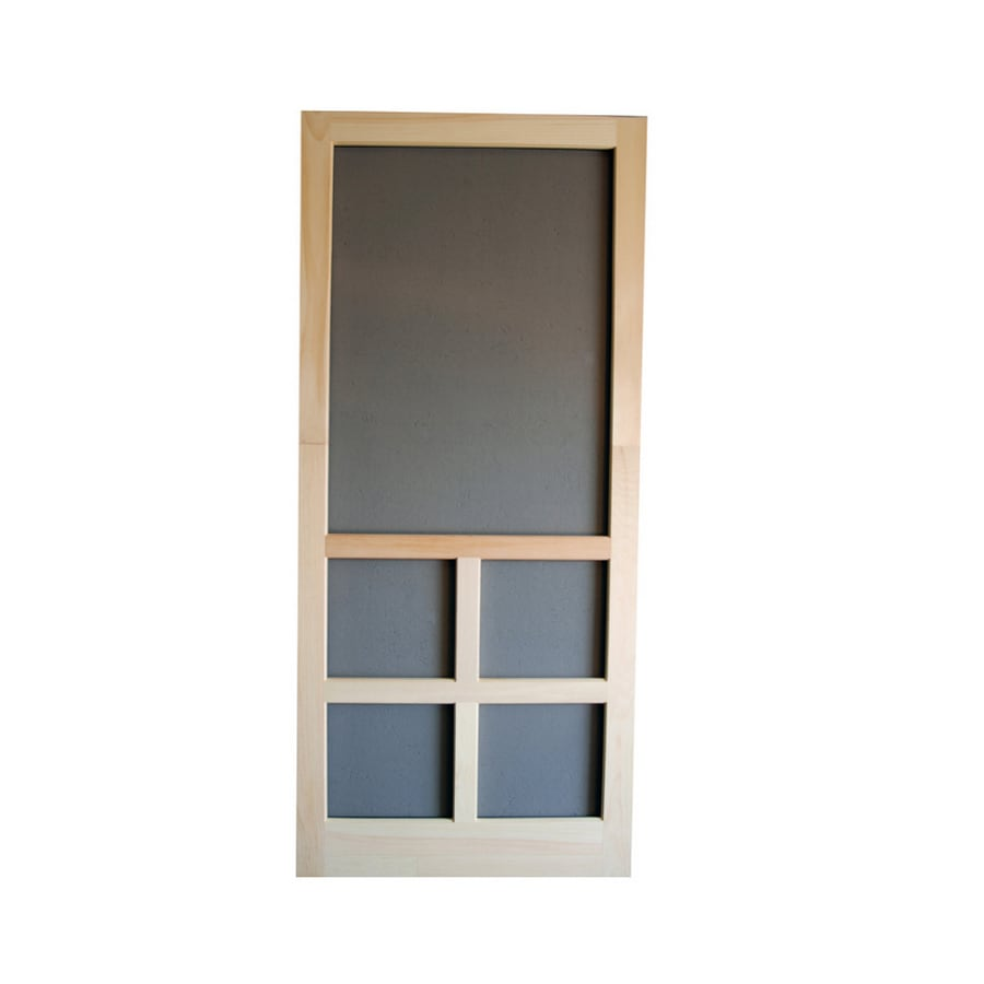 Screen Tight Summit Natural Wood Hinged Screen Door (Common: 32-in x 80-in; Actual: 32-in x 80-in)
