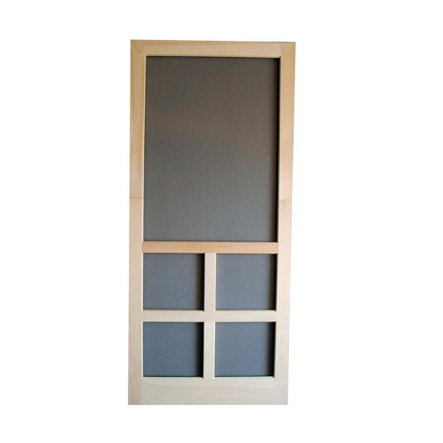 Screen Tight Natural Wood Hinged Cross Bar Screen Door (Common: 36-in x 80-in; Actual: 36-in x 80-in)