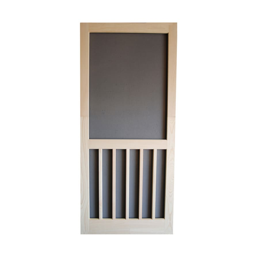 Screen Tight Natural Wood Hinged 5-Bar Screen Door (Common: 36-in x 80-in; Actual: 36-in x 80-in)