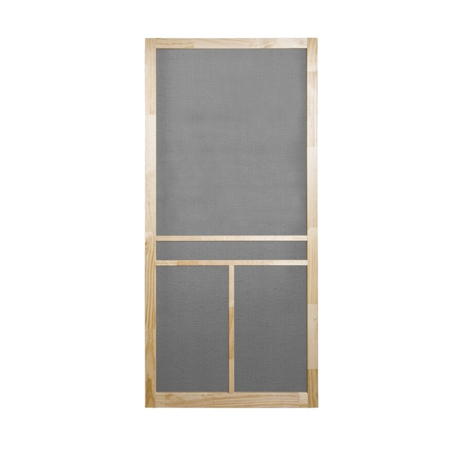 Screen Tight Natural Wood Hinged Screen Door (Common: 36-in x 80-in; Actual: 36-in x 80-in)