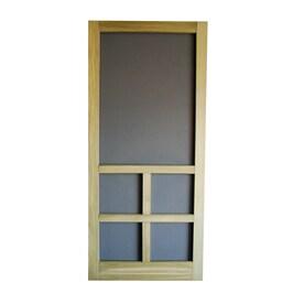 Screen Tight Summit Pressure Treated Wood Hinged Cross Bar Screen Door  (Common: 36