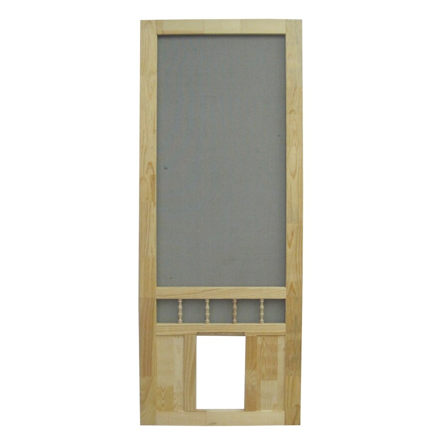 Shop Screen Tight Southport 36 In Natural Wood Screen Door With Pet