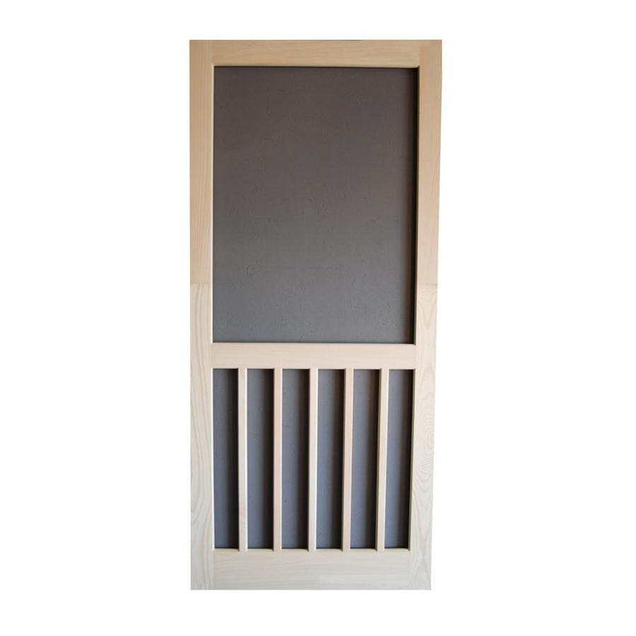 Screen Tight Natural Wood Hinged 5-Bar Screen Door (Common: 32-in x 80-in; Actual: 32-in x 80-in)