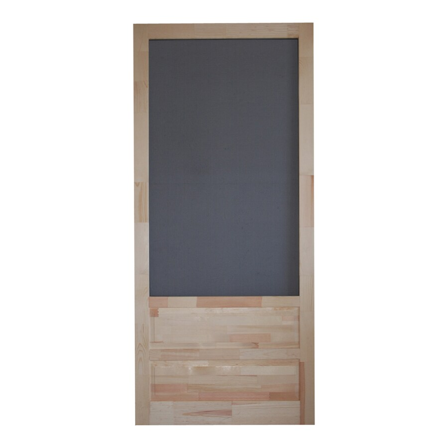 Screen Tight Natural Wood Hinged Decorative Screen Door (Common: 32-in x 80-in; Actual: 32-in x 80-in)